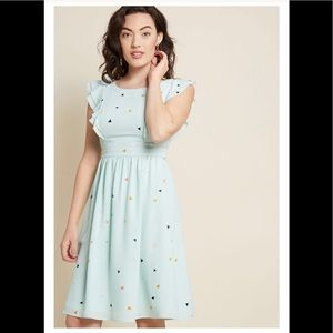 NWOT ModCloth Fervour Mint A-Line Dress